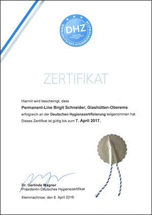 zertifikat-permanent-line Frankfurt